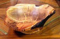 Natural edge wood bowl
