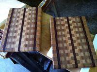 Semi Random Pattern End Grain Cutting Boards